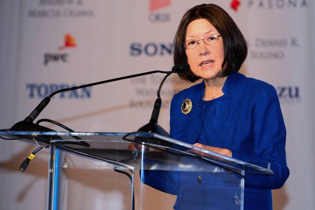 Text Box: USJC President Irene Hirano Inouye reflects on the future of the organization